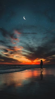 iphone wallpaper sunset A Walk In The Night - Night Sky Wallpaper, Sunset Wallpaper, Nature Wallpaper, Wallpaper Backgrounds, Cool Iphone Wallpapers Hd, Pretty Wallpapers, Iphone Pics, Iphone 6, Sky Aesthetic