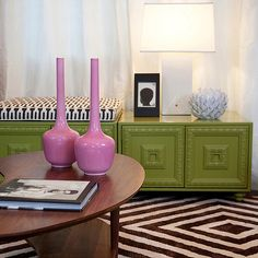 LOVE lime green and pink together