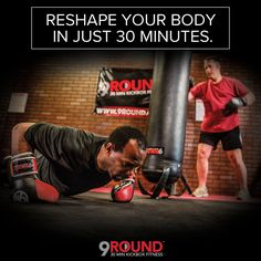 No time? No problem! If you want to burn fat, build muscle, and beat stress, all while having a great time, a 9Round workout is the one for you!