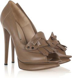 Nicholas Kirkwood Moccasin-style leather pumps