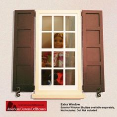 1000 images about american custom dollhouses extra for Recessed panel shutters