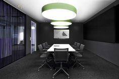 SIGN('s) spring green INVADER('s) golden heart concept meetingroom #ArchitecturalLighting #Prolicht #DARK