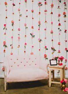 DIY: decoración de pared con flores frescas