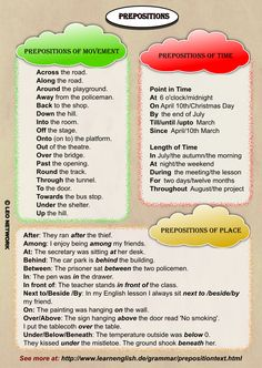 Prepositions. With 'a few' corrections.