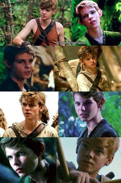Peter Pan and Newt! Robbie Kay and Thomas Sangster! WHY CAN'T THOMAS SANGSTER BE BOTH