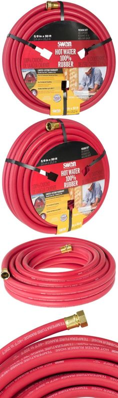 Hoses 151604: Commercial Hot Water Hose Heavy Duty Crush Kink Resistant Red  Rubber 50 Ft