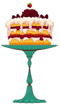 """Photo from album """"Торты, пирожное"""" on Yandex. Birthday Cake Clip Art, 3rd Birthday Cakes, Cupcake Icing, Cupcake Art, Cake Background, Cupcake Pictures, Art Impressions Stamps, Recipe Scrapbook, Painted Cakes"""