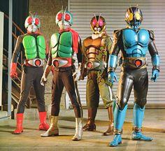 Kamer Rider Sangou, Ichigo, Yongo, and Sango (not V3)