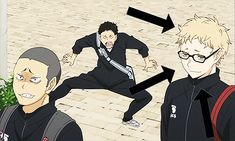 Can we all just take a moment to notice how Tsukki runs away as soon as Papa Daichi comes to scold them