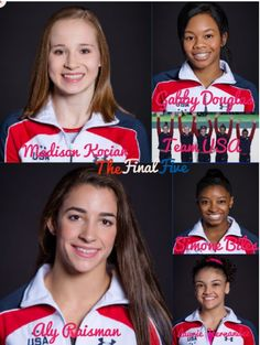 The final five is amazing love them Aly is a good captain they did great in the gymnastics portion of the Olympics.Aly Raisman, Laurie Hernendez, Gabby Douglas, Simone Biles, and Madison Kocian. I made this on an app I have on my iPad it is called pic collage. Good job girl hope to see you next year on the gymnastics portion of the Olympics of 2017.My family just records the gymnastics portion of the Olympics because we cheer on the USA team.We watch only the gymnastic portion of the…