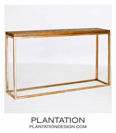 Stave Console Table | Gold