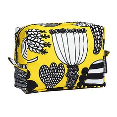 Ideal for or just staying tidy at home, this cute and convenient case will inspire beautiful things at your vanity or bathroom counter. Purse Wallet, Coin Purse, Pouch, Pattern Design, Print Design, Marimekko Fabric, Fabric Patterns, Textile Design, Cosmetic Bag