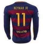 FC Barcelona 2015-16 Season NEYMAR JR 11 LS Home Soccer Jersey [B608]