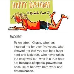 Omg yesss we love you Annabeth! Thank u for being inspiring to all the blonde nerds out there!
