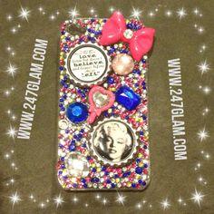 Bubble gum Marilyn Monroe iPhone case