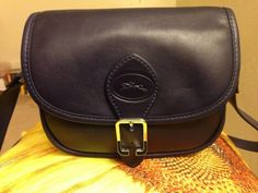 Long Champ Sultan Small Leather Crossbody In Navy Blue 5fea189b968