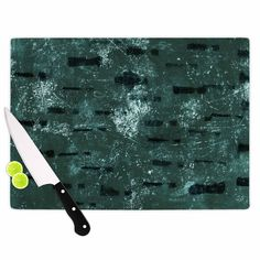 "Iris Lehnhardt ""Tex Mix Jade"" Abstract Green Cutting Board"