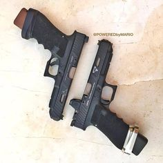 From ・・・ Going to be playing with these two Combat Master Glock today. Weapons Guns, Airsoft Guns, Guns And Ammo, Glock Mods, Assault Weapon, Mens Toys, Custom Guns, Cool Guns, Firearms