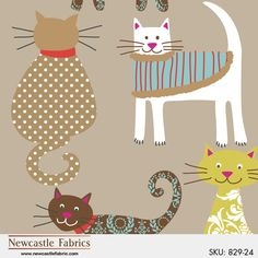 Meow by Joyce Baker for Newcastle Fabrics (829-24)