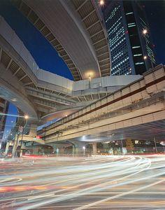 Elevated expressways near Hatsudai station, Tokyo, Japan 首都高速 Lost In Tokyo, Japan Tourism, Tokyo Tower, Japanese Landscape, Tokyo Streets, 1q84, Japanese Design, Tokyo Japan, Design Architect