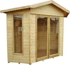 Forest Wooden Shiplap Tongue and Groove Blockley Corner Summerhouse Cabin Bar Shed, Tongue And Groove, Garage Doors, Corner, Outdoor Structures, Cabin, Outdoor Decor, Home Decor, Ebay