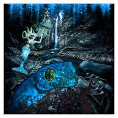 """Magic blue"" by ovidija ❤ liked on Polyvore featuring art"