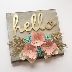 The best do it yourself gifts fun clever and unique diy craft barn wood felt flowers laser cut hello sign by 3birdsonmydoorstep solutioingenieria Choice Image