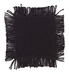 Protect your tables while also sticking with your primitive home decor with our Burlap Black Fringed Coaster - Set of 4! https://www.primitivestarquiltshop.com/search?type=product&q=burlap+black+fringed+coaster #primitivecountryhomedecor