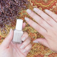 essie 'sand tropez' is the perfect neutral to transition from summer to fall!