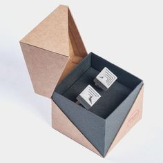 Concrete Cufflinks Micro Concrete Cufflinks #6 by Material Immaterial studio…