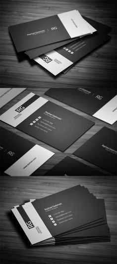 Simple Black and White Business Card - Business Cards on Creattica: Your source for design inspiration Corporate Design, Business Design, Branding Design, Corporate Business, Business Style, Identity Branding, Brochure Design, Visual Identity, Graphisches Design
