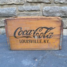 Vintage Coca Cola Wooden Crate by oZdOinGItagaiN on Etsy, $35.00