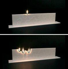 Πρωτότυπο διακοσμητικό κερί με φιτίλια που πολλαπλασιάζονται καθώς καίγεται !