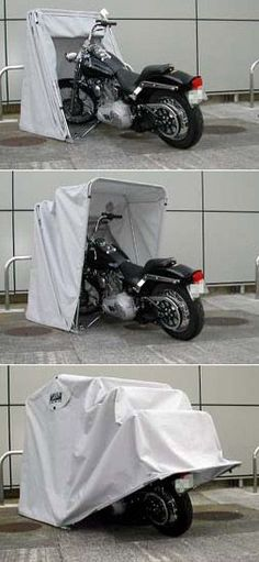 Bike Barn Motorcycle Cover. Expensive but would be absolutely wonderful considering I have no garage.
