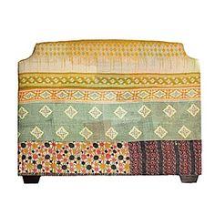 Kantha Upholstered Headboard - Queen