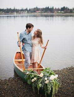 Engagement Session with a Vintage Canoe: Stephanie + Markus | Green Wedding Shoes Wedding Blog | Wedding Trends for Stylish + Creative Brides