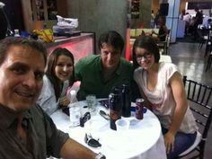 Nathan Fillion with his nieces and brother Jeff Fillion