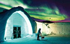 Abisko National Park Sweden's Ice Hotel - to view the Northern Lights