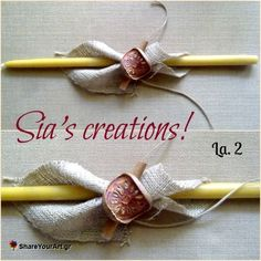 Χειροποίητες Πασχαλινές Λαμπάδες από Sias_creations Orthodox Easter, Palm Sunday, Candels, Easter Crafts, Happy Easter, Decoupage, Diy, Handmade, Soaps