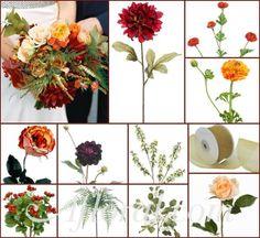 #fall wedding #rustic wedding #afloral http://blog.afloral.com/daily-scoop/rustic-burgundy-fall-wedding-flowers-miriams-inspiration-board/#.Uokyk8SsiSo