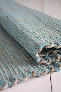 rope weft rug