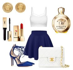 """Unbenannt #253"" by lailabalic on Polyvore featuring Mode, Gianvito Rossi, Chanel, Versace und Yves Saint Laurent"