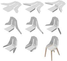 'diago chair' by tabanda Leather Dining Chairs, Metal Chairs, Cool Chairs, Lounge Chairs, Side Chairs, Metal Sheet Design, Sheet Metal, Diy Pallet Furniture, Metal Furniture