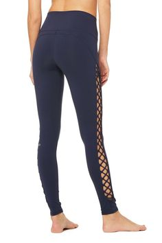 <p>High-waisted for the most flawless fit, the Interlace Legging is bound to be your new-season fave. Lace-up details on the sides ensure they stand apart from the rest.</p>