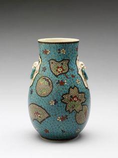 Japanese Porcelain, Ceramic Vase, Line Design, Kyoto, Vases, Lab, Enamel, Collections, Museum