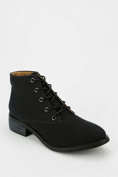 Kimchi Blue Canvas Lace-Up Boot