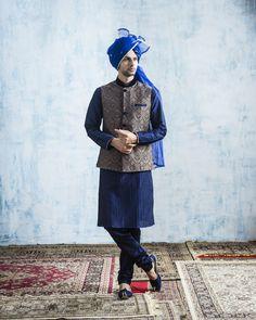 #classic#stylish#blue#kurta#MenInStyle