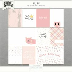 Document your tiny stories with Hush pocket cards. Tiny Stories, Scrapbook Quotes, Baby Journal, Pocket Cards, Papers Co, Journal Cards, Hush Hush, Gallery Wall, Clip Art
