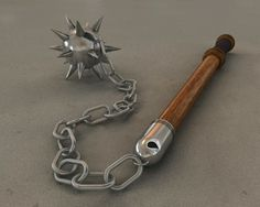 This was one of the best weapons to face off a swordsman. If the man tried to block the blow with his sword the sword would brake or go flying. Then if the chain hit the shield it could whip around and hit the swordsman in the helm.