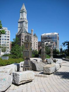 a portion of the Rose Kennedy Greenway Boston